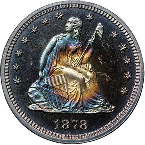 1878 25C PF obverse