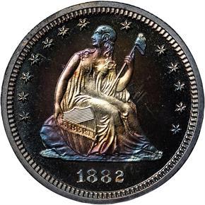 1882 25C PF obverse