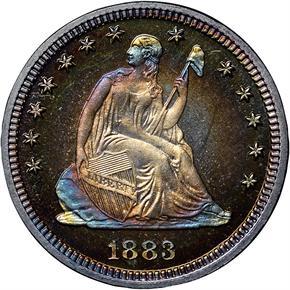 1883 25C PF obverse