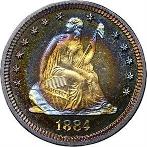 1884 25C PF obverse