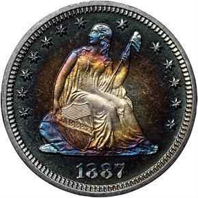 1887 25C PF obverse