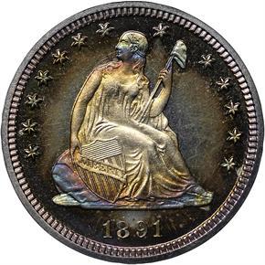 1891 25C PF obverse