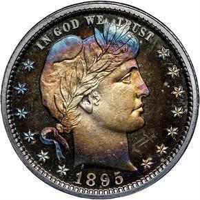 1895 25C PF obverse