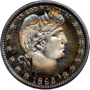 1896 25C PF obverse