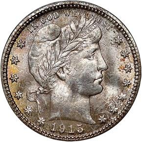 1915 D 25C MS obverse