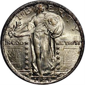 1925 25C MS obverse