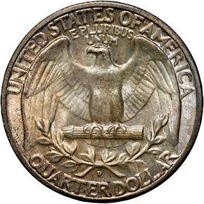 1934 D 25C MS reverse