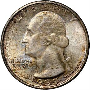 1935 D 25C MS obverse