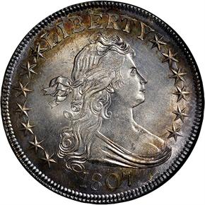 1807 DRAPED 50C MS obverse