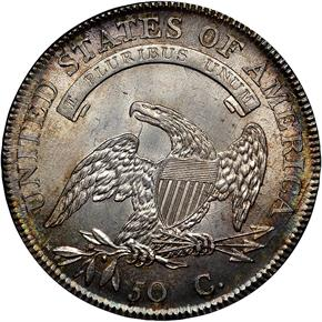 1807 CAPPED 50C MS reverse