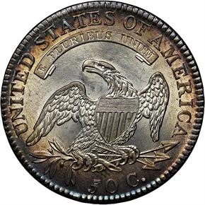 1818/7 50C MS reverse