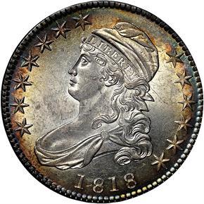 1818 50C MS obverse