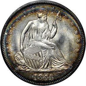 1845 50C MS obverse