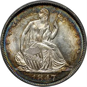 1847 50C MS obverse