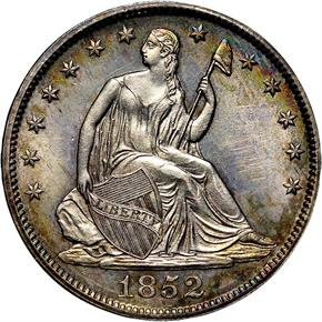 1852 50C MS obverse