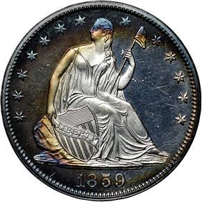 1859 50C PF obverse
