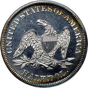 1859 50C PF reverse