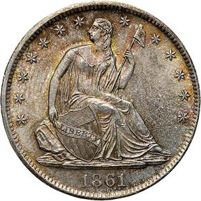 1861 S 50C MS obverse