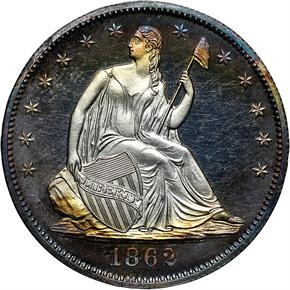 1862 50C PF obverse