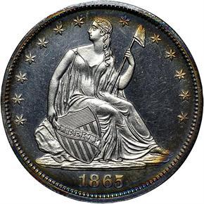 1865 50C PF obverse