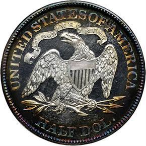1867 50C PF reverse