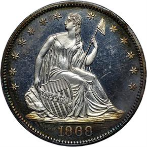 1868 50C PF obverse