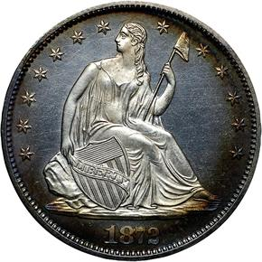 1872 50C PF obverse