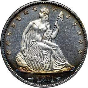 1874 ARROWS 50C PF obverse