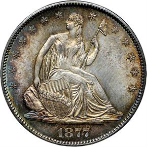 1877 S 50C MS obverse