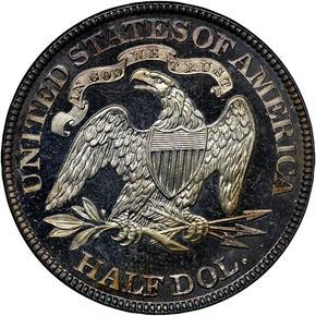1884 50C PF reverse