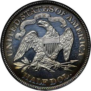 1889 50C PF reverse