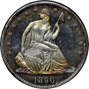 1890 50C PF obverse