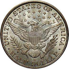 1912 D 50C MS reverse