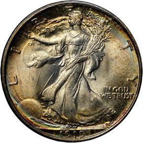 1919 50C MS obverse