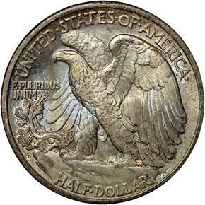 1934 D 50C MS reverse