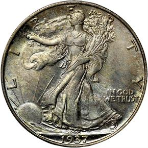 1937 S 50C MS obverse