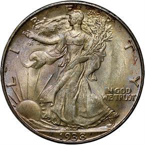 1938 D 50C MS obverse