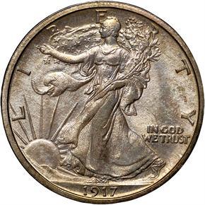 1917 50C MS obverse