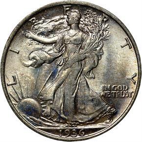 1936 50C MS obverse