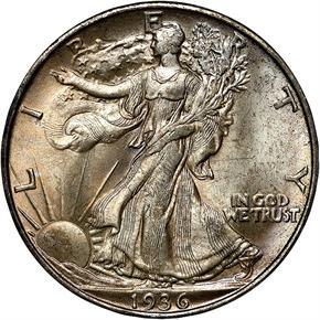 1936 D 50C MS obverse