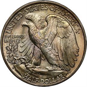1936 D 50C MS reverse