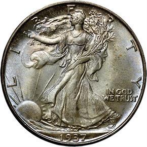 1937 D 50C MS obverse