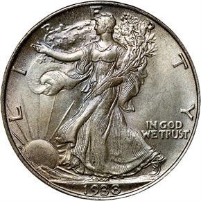 1938 50C MS obverse