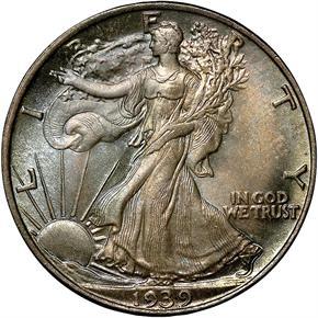 1939 50C MS obverse