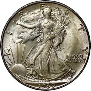 1939 D 50C MS obverse