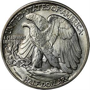 1943 50C MS reverse