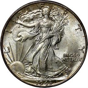 1943 D 50C MS obverse