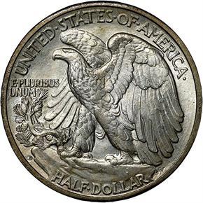 1943 D 50C MS reverse