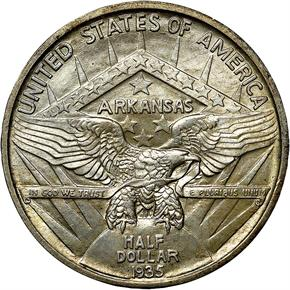 1935 ARKANSAS 50C MS reverse