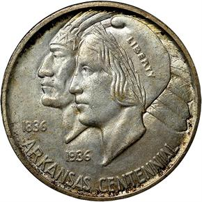 1936 S ARKANSAS 50C MS obverse